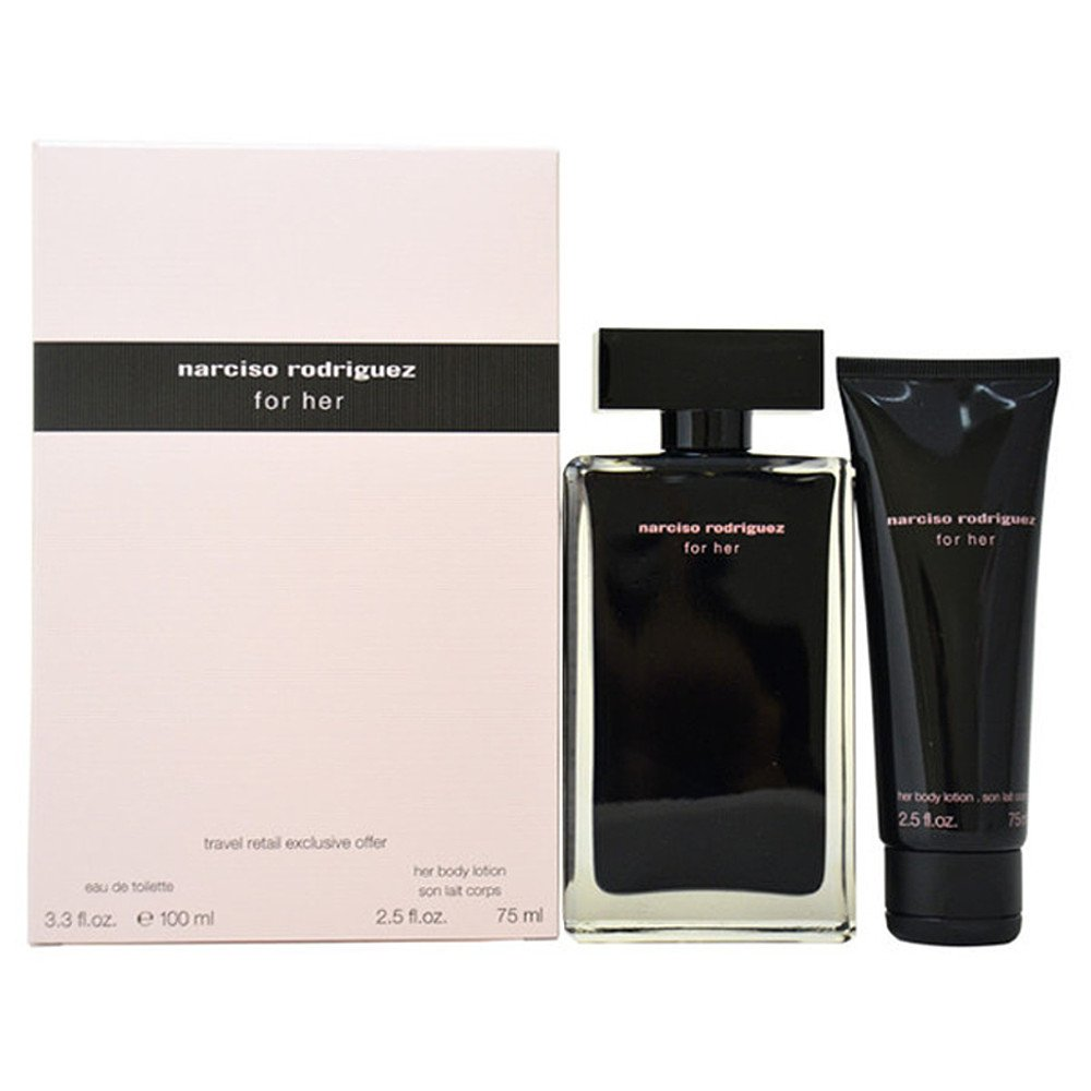 narciso rodriguez for her edt 100ml gift set the beauty store. Black Bedroom Furniture Sets. Home Design Ideas