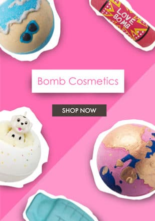 Bomb Cosmetics Feature Menu Promo