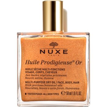 NUXE Huile Prodigieuse Or Multi-Purpose Dry Oil for Face, Body & Hair 50ml