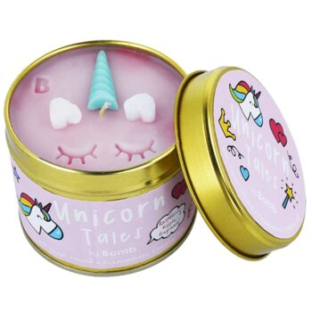 Bomb Cosmetics Unicorn Tales Sweet Almond & Frankincense Scented Tin Candle